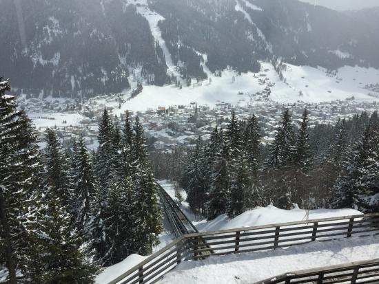 Davos Platz, Suisse : Schatzalp funicular access