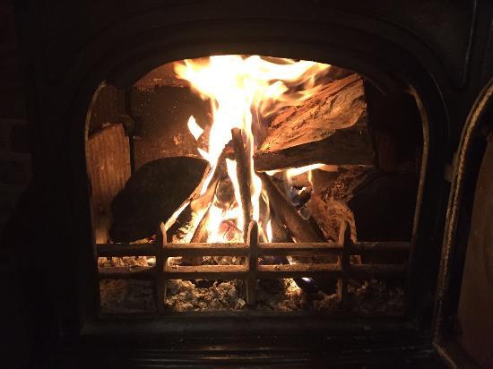 Shropshire, UK: Great log fire