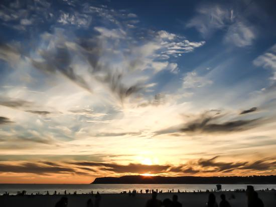 Sunset at Coronado Beach, San Diego