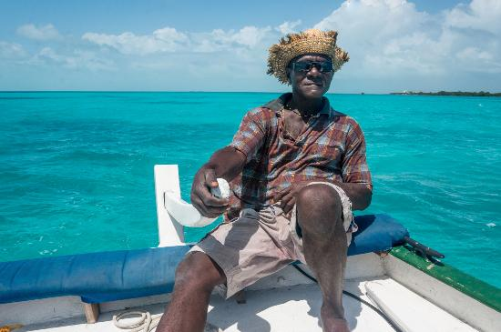 Caye Caulker, Belize: Just enjoying the day on the boat