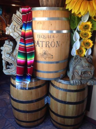 Rehoboth, MA: Authentic barrels greet patrons inside the entry
