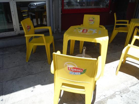 small patio with plastic chairs picture of la table de sanchez rh tripadvisor co za