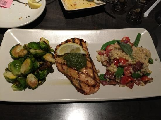 Reston, VA: The salmon with brussel sprouts and their version of succotash