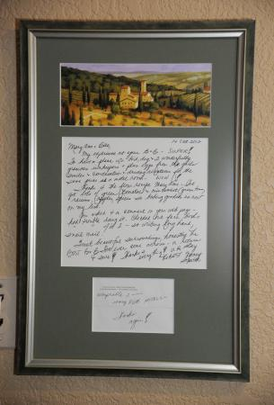 A Cascade View Bed and Breakfast: A wonderful letter fom a guest