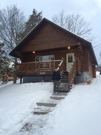 one of the cabins we stayed at in the winter picture of. Black Bedroom Furniture Sets. Home Design Ideas