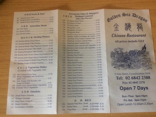 Chinese Restaurants In Coonabarabran
