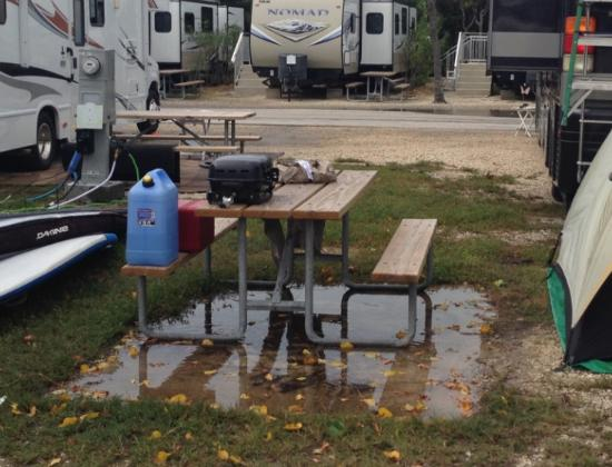 Long Key, FL: Flooded campsites