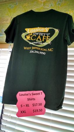 ‪‪West Jefferson‬, ‪North Carolina‬: Louise's T-shirt.‬
