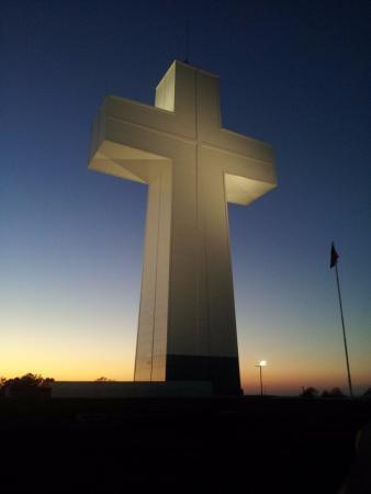 Alto Pass, IL: Sunset and Bald Knob Cross