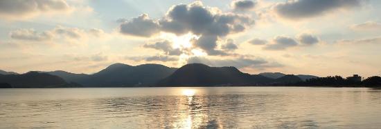 Kyotango, Japón: 久美浜湾の夕日