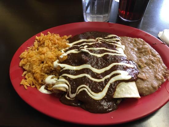 Malvern, PA: Enchilada (steak) with mole sauce