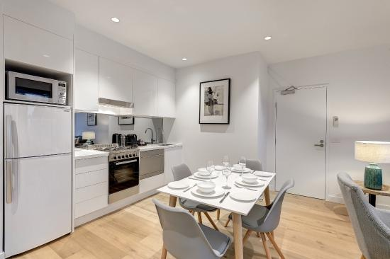 Hawthorn, Australia: kitchen area in 1 and 2 bedroom apartment