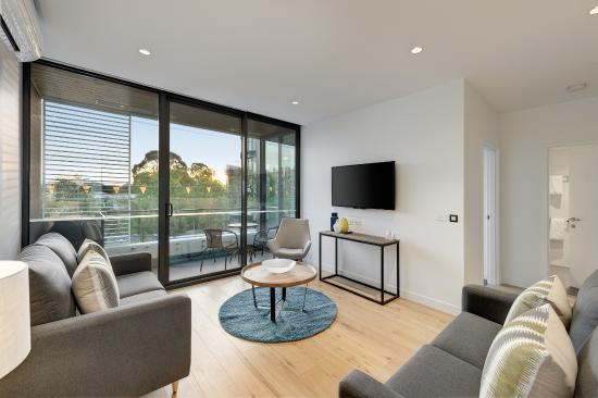 Hawthorn, Australia: lounge area in a one bedroom and 2 bedroom apartment