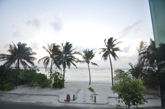 Hulhumale: view from our room in morning.