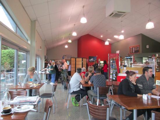 Rakaia, Nowa Zelandia: Inside the cafe