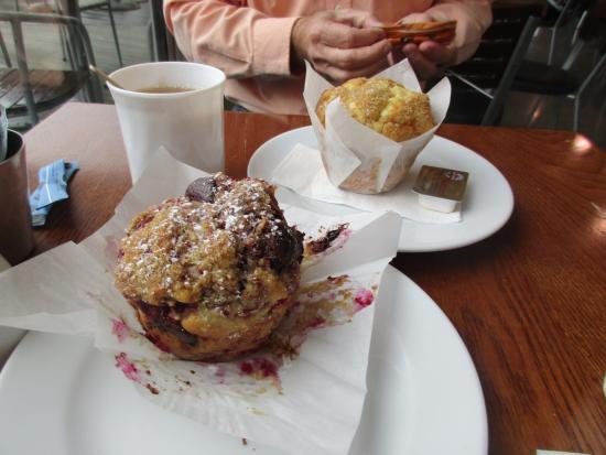 Rakaia, Nowa Zelandia: Giant, yummy muffins