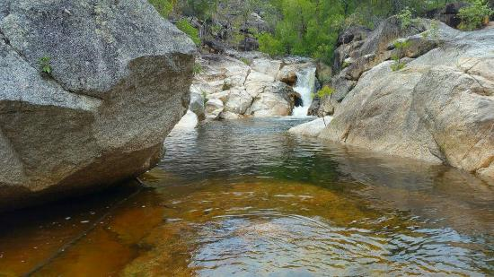 Mareeba, Australia: Swimming pools at the top of Emerald Creek Falls