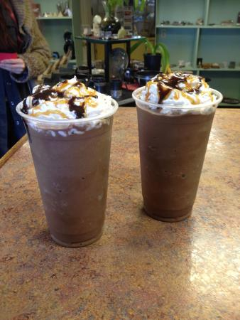 Marshall, AR: Mocha Frappés - another delight from our full espresso bar!