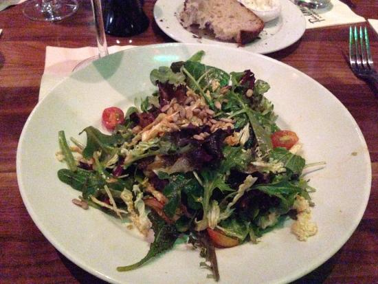 San Mateo, CA: Tasty organic salad - part of the wine dinner for 2