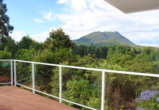 Kauri Point: View from decking next to room