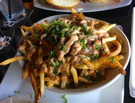 The Morrison: French fries with bacon jam