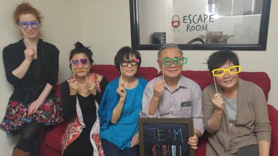 Irvine, CA: Team Chu had fun solving puzzles!
