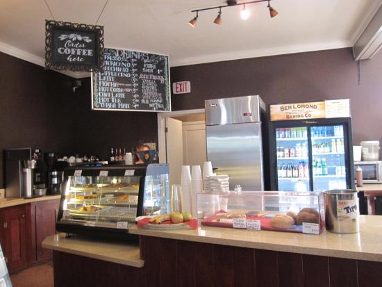 Ben Lomond, CA: The coffee and beverage counter