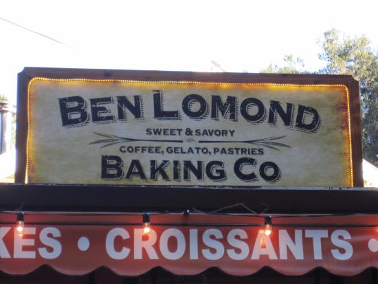 Ben Lomond, CA: The sign for the business