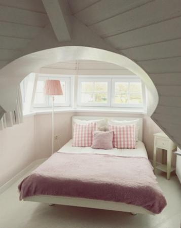 De Haan, Belgique : We logeerden in het schattige torenkamertje.