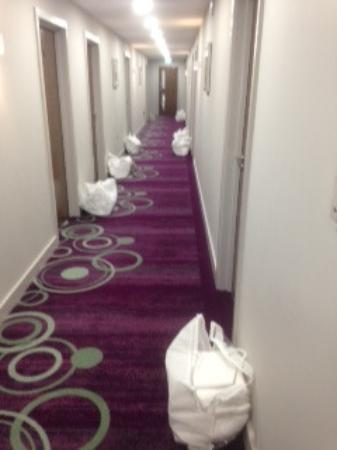Chipping Norton, UK: Endless bags of laundry in the corridors every day!