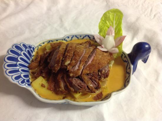 Gutersloh, Alemania: Ente mit thai Curry