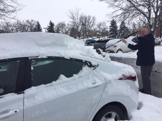 "Marriott Hotel Fort Collins : Here's David helping me dig my car out of 12""+ of fresh snow - thank you so much!!"