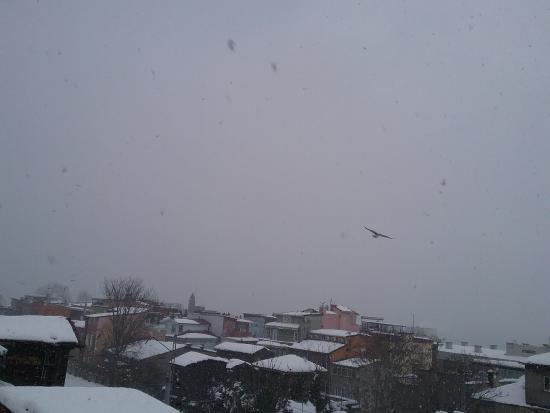 Antis Hotel: La nevicata sul mare