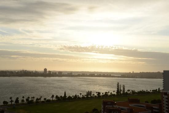 Fraser Suites Perth: Sonnenuntergang