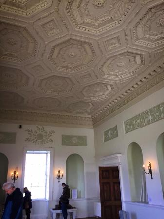 Worcester, UK: Ceiling in the Long gallery