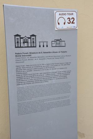 Museu do Trabalho Michel Giacometti: History tablet.