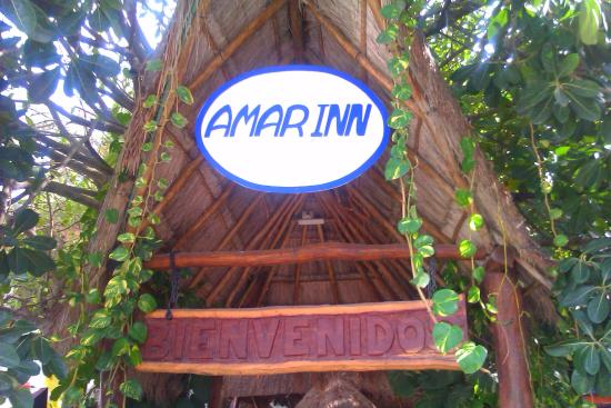 Amar Inn B&B: amar inn puerto morelos bandb front entrance - beachside hotel