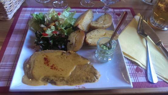 Refuge Napoleon : Hauptgang Abendessen