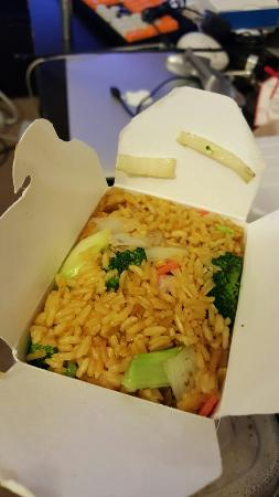 Terrytown, LA: Vegetable fried rice, pepper steak, sweet and sour chicken and chicken lo mein.