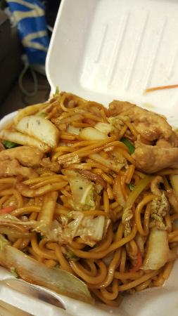 Terrytown, Luizjana: Vegetable fried rice, pepper steak, sweet and sour chicken and chicken lo mein.