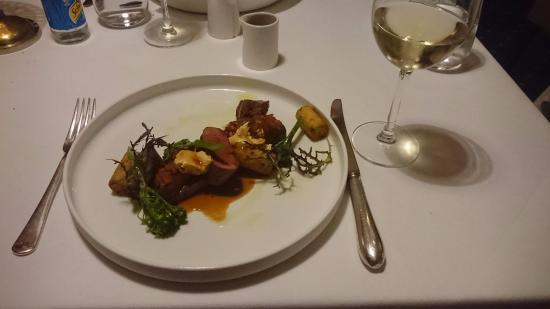 Rushton, UK: My delicious lamb meal!