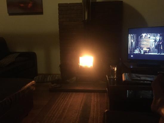 Hornsea, UK: Log burner