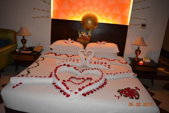 lovely decoration with towel art