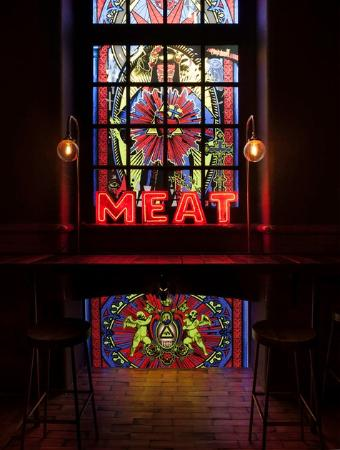 Photo of American Restaurant Meat Mission at 15 Hoxton Market, London N1 6HG, United Kingdom