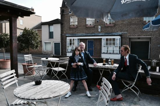 Sunbury, UK: Outdoors with tables
