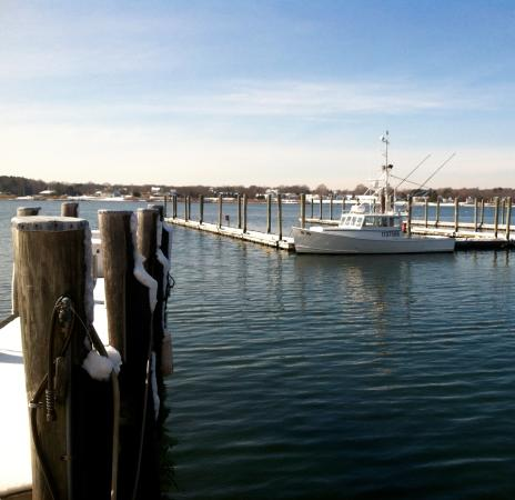Stonington, CT: Overlooking the harbor at the Dog Watch Cafe