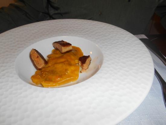 Saint-Avit-Senieur, Γαλλία: raviolles aux foie gras