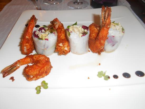Saint-Avit-Senieur, Frankrike: crevettes