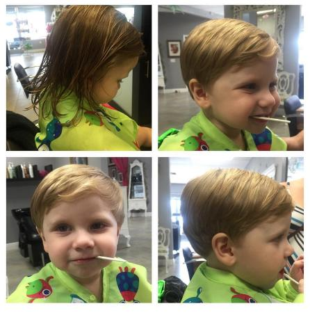 Boys haircut picture of ladee da kids spa clearwater tripadvisor ladee da kids spa boys haircut urmus Image collections