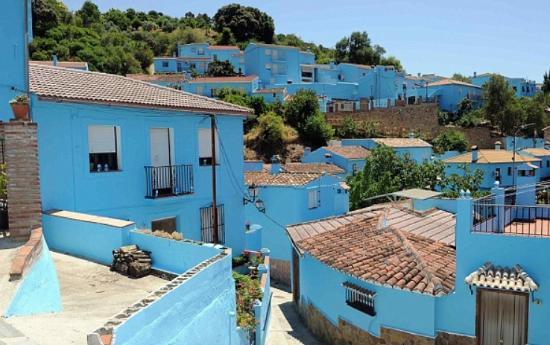 Juzcar, สเปน: Mooie blauwe huisjes
